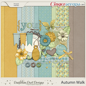 Autumn Walk Digital Scrapbook Kit By Dandelion Dust Designs