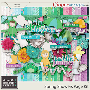 Spring Showers Page Kit by Aimee Harrison