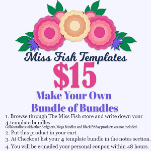 $15 Build Your Own Bundle of Bundles by Miss Fish Templates Black Friday 2020