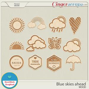 Blue skies ahead - wood