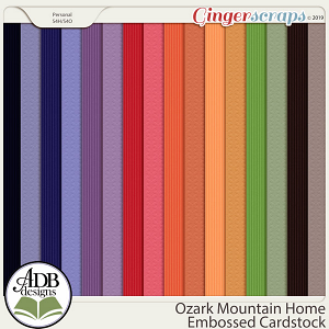 Ozark Mountain Home Embossed Cardstock By ADB Designs