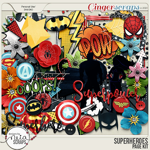 Superheroes - elements by Neia Scraps