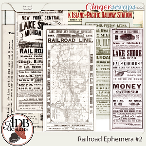 Heritage Resource - Railroad Ephemera Vol 02 by ADB Designs