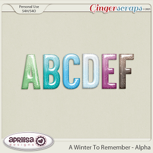 A Winter to Remember - Alpha by Aprilisa Designs.