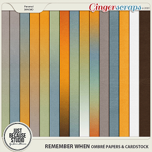 Remember When Ombré Papers & Cardstocks by JB Studio