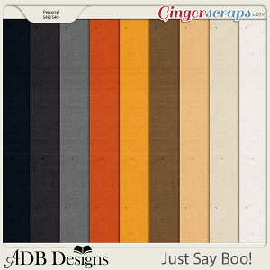 Just Say Boo! Cardstock Solids by ADB Designs