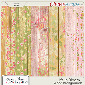 Life in Bloom Wood Backgrounds