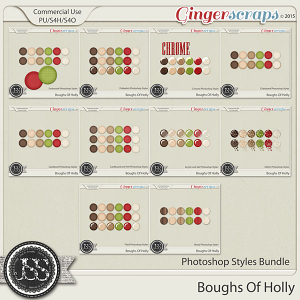 Boughs Of Holly CU Photoshop Styles Bundle