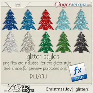 Christmas Joy: Glitterstyles by LDragDesigns