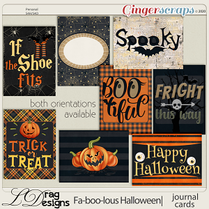 Fa-BOO-lous Halloween: Journal Cards by LDragDesigns