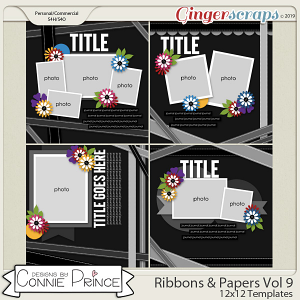 Ribbons & Papers Volume 9 - 12x12 Temps (CU Ok) by Connie Prince