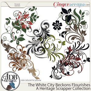 The White City Beckons Flourishes by ADB Designs
