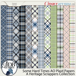 Some Hard Times AO Plaid Papers by ADB Designs