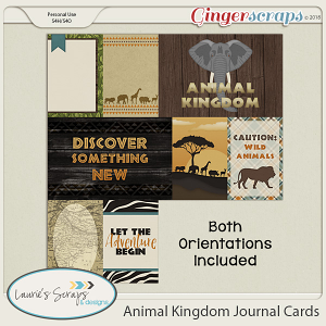 Animal Kingdom Journal Cards