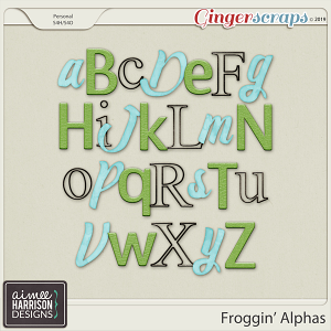 Froggin' Alpha Sets by Aimee Harrison