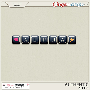 Authentic - Alpha - by Neia Scraps