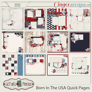 Born In The USA Quick Pages by Scraps N Pieces