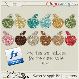 Sweet As Apple Pie: Glitterstyles by LDragDesigns