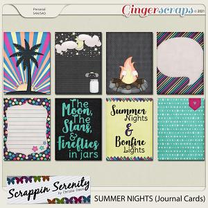 Summer Nights Journal Cards