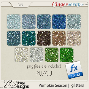 Pumpkin Season: Glitterstyles by LDragDesigns