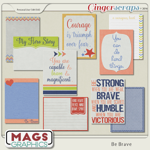 Be Brave JOURNAL CARDS by MagsGraphics
