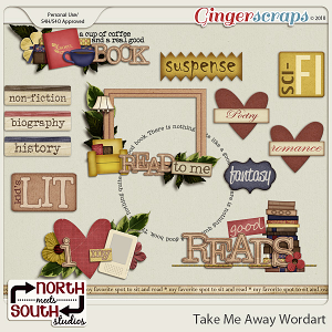 Take Me Away {Wordart} by Trixie Scraps and Connie Prince