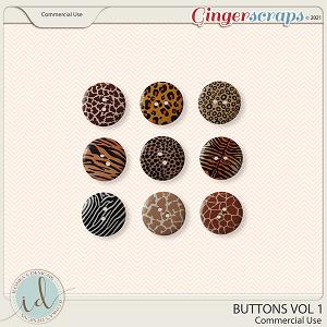 CU Buttons Vol 1 by Ilonka's Designs