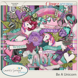 Be A Unicorn Page Kit