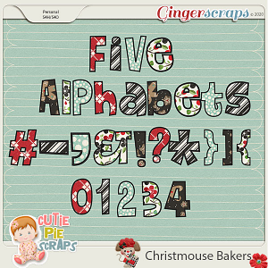 Christmouse Bakers Alphabets