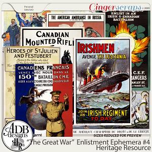 Heritage Resource Enlistment Ephemera Set 04 by ADB Designs