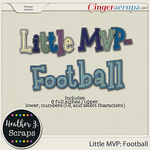 Little MVP: Football ALPHABETS by Heather Z Scraps