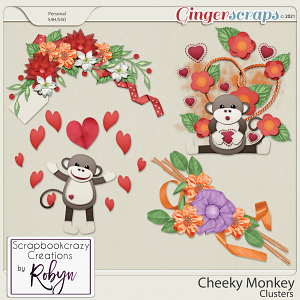 Cheeky Monkey Clusters by Scrapbookcrazy Creations