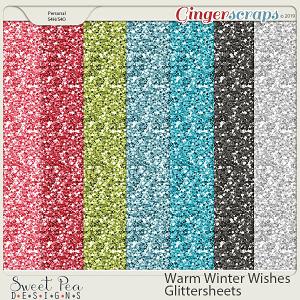 Warm Winter Wishes Glitter Sheets