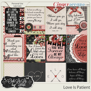 Love Is Patient Journal and Pocket Scrap Cards