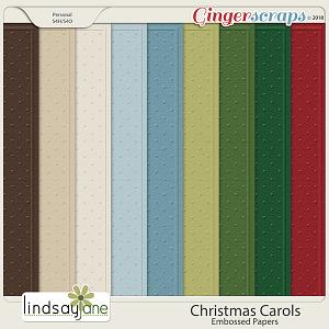 Christmas Carols Embossed Papers by Lindsay Jane