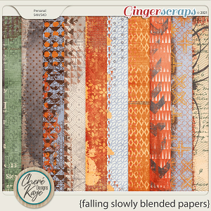 Falling Slowly Blended Papers by Chere Kaye Designs