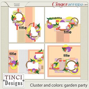 Cluster and colors: garden party