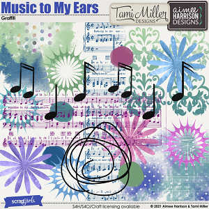 Music to My Ears Graffiti by Tami Miller and Aimee Harrison