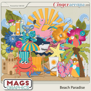 Beach Paradise ELEMENTS by MagsGraphics
