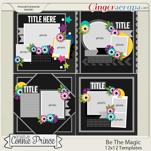 Be The Magic - 12x12 Templates (CU Ok)
