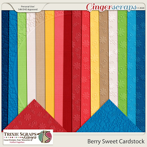 Berry Sweet Cardstock by Trixie Scraps Designs