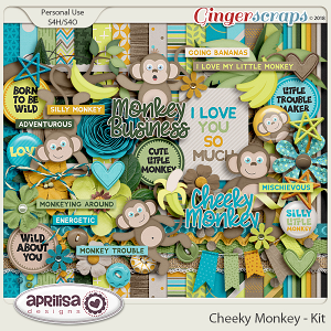 Cheeky Monkey - Kit by Aprilisa Designs