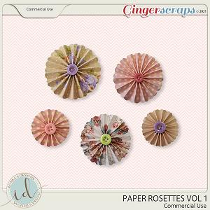 CU Paper Rosettes Vol 1 by Ilonka's Designs