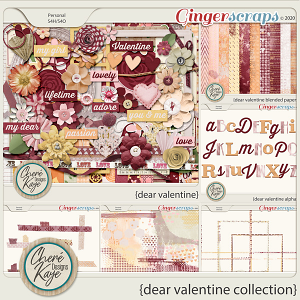 Dear Valentine Collection by Chere Kaye Designs