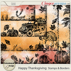 Happy Thanksgiving Stamps & Borders