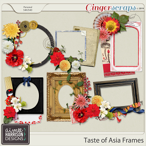 Taste of Asia Frame Clusters by Aimee Harrison