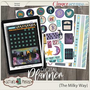 The Milky Way Planner Pieces - Scraps N Pieces