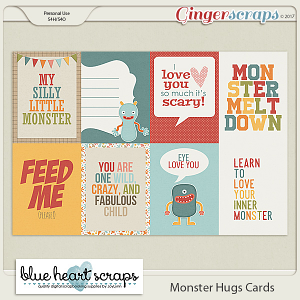 Monster Hugs Journal Card Pack