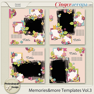 Memories&more Templates Vol.3