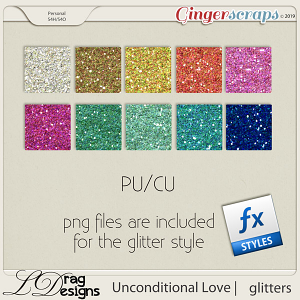Unconditional Love: Glitterstyles by LDragDesigns